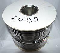 7-0430. Кабель видео S-VHS 2ж в экране 4,8мм круглый чёрный 100м