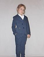 """Школьный костюм тройка для девочки """"Фрак"""" синий., р-ры 30-40"""
