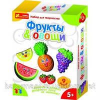 Набор для детского творчества  Фигурки из гипса  Овощи и фрукты Ranok-creative