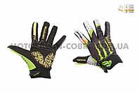 "Перчатки   ""PRO-BIKER AND MONSTER ENERGY""   (size:XL, черно-зеленые)"