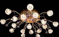 Люстра галогеновая на 19 лампочек с подсветкой и пультом управления для большой комнаты