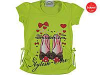 Летняя нарядная футболка  для девочек белая  6, 7, 8 лет.Турция!100 % хлопок!Детская летняя одежда!