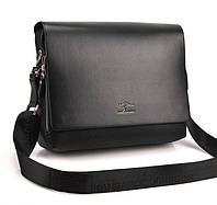 Мужская сумка - портфель Kangaroo под формат А4. Черная сумка. Качественный портфель. КС88