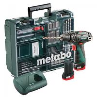 Ударная дрель-шуруповерт аккум. Metabo PowerMaxx SB Basic Set (600385870)