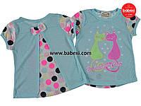 Летняя  футболка-туника  для девочек 104, 110, 116, 122, 128 см.Турция!Детская летняя одежда!