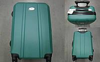 Чемодан пластиковый на 4х колесах Зеленый Доставка по Киеву и Украине