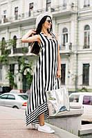 Платье модное в полоску 03/338