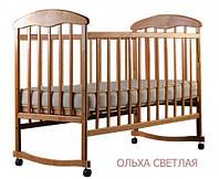 Детская кроватка Наталка 1 Ольха светлая, темная