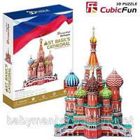 Детский конструктор Собор Василя Блаженного 3D Cubic Fun