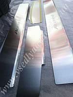 Защита порогов - накладки на пороги Honda ACCORD VII с 2003-2007  (Standart)