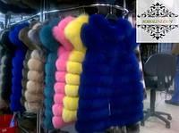 Меховые жилеты от производителя, натуральный мех песца в магазине онлайн