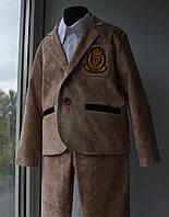 Нарядный костюм для мальчика микровельвет 4-6 лет