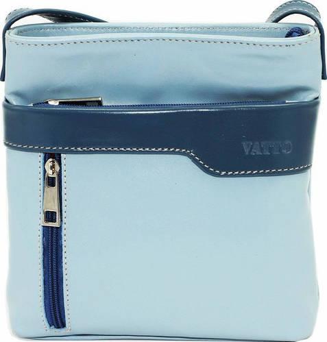 Интересная женская сумочка на плечо из натуральной кожи VATTO Wk13 N7,2 голубой+джинс