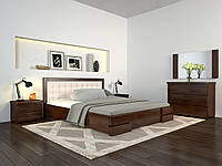 Кровать деревянная Регина Люкс из натурального дерева двуспальная