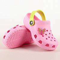 Обувь детская пляжная из эва розовые