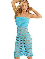 Вязаное пляжное платье-трансформер