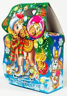 """Новогодняя упаковка из картона НОВИНКА на 2017"""" Сумочка петушок 500г.""""скидка только для оптовиков"""