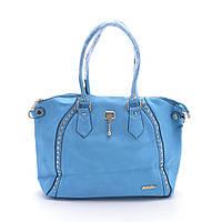 Яркая качественная женская сумка из искусственной кожи модель FP06 голубого цвета