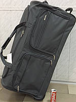 Очень большая дорожная сумка на 2 колесах LYS Франция 8431 серая 150 литров