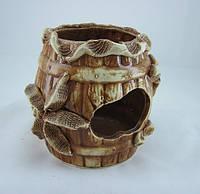 Керамика для аквариума Бочка большая, 12 см.
