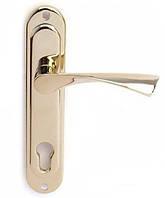 Ручки дверные на планке Аверс HP-85.0123-AL-G (114mm)