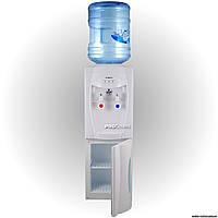 Напольный кулер для воды с компрессорным охлаждением и шкафчиком HotFrost V208 В
