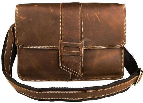 Прекрасный мужской кожаный мессенджер S.J.D. 7263B, коричневый