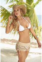 Ажурные короткие пляжные шорты