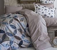 Пике покрывало + простынь +2 наволочки Karaca Home ALITA голубой