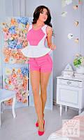 Костюм женский  Стильный летний с шортами цвет коралл