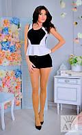 Костюм женский  Стильный летний с шортами цвет чёрный