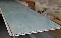 Панель пластиковая 250х8х6000мм Мрамор голубой