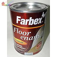 Емаль для пола желто-коричневая Farbex  0,9кг