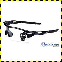 Очки защитные с прозрачными линзами, защита от ультрафиолета.