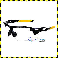 Очки защитные   с прозрачными линзами (жёлтые вставки), UV400.