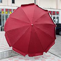 Зонт уличный большой HZT /N-02 с клапаном, тент из полиэстера, диаметр 2,4м, 8 спиц, цвет в ассортименте