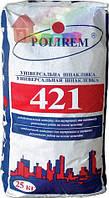 Стартовая шпатлевка POLIREM СШп-421 STARTна цемент. осн 25 кг (48) т. слоя 3-10мм нар.и внутр.работы
