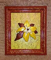 Картина Цветок ручная работа натуральное дерево handmade