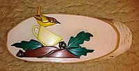 Картина Птичка на ветке Мозаика из дерева ручная работа handmade