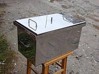 Коптильня с гидрозатвором для горячего копчения. Коптильня из нержавеющей стали. Отличное качество Код: КДН263
