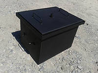 Коптильня двух-ярусная (400х310х280) для горячего копчения. Коптильня с гидрозатвором. Купить. Код: КДН266