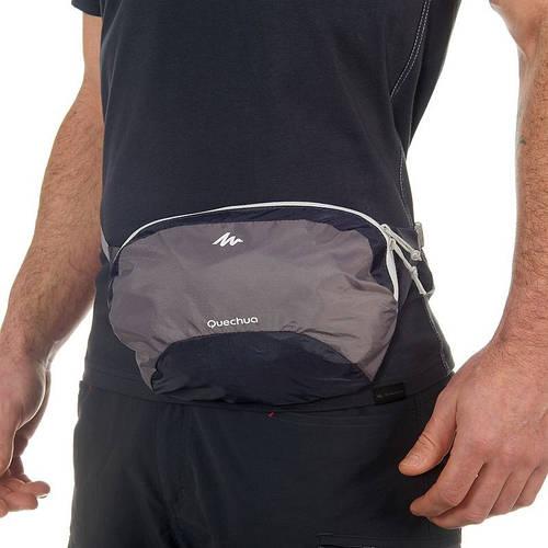 Качественная сумка на пояс Quechua Ultra Compact 2 л 2027249, серый