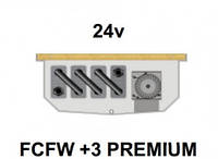 Внутрипольный конвектор FanCoil FCFW +3 PREMIUM, 24v, 125x300x2500мм, для влажных помещений