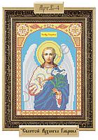 Схема для вышивки бисером на габардине - «Святой Архангел Гавриил» (Код: Схема, А4, Габардин, Арт.B-4)