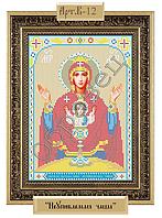 Схема для вышивки бисером - «Пресвятая Богородица - Неупиваемая Чаша» (Код: Схема, А4, Габардин, Арт.B-12)