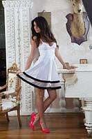 Платье сарафан на тонких бретелях с фатином цвет белый