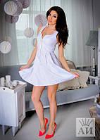 Платье  Молодёжное коттоновое на змейке беби-дол цвет белый