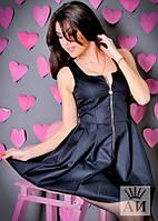 Платье  Молодёжное коттоновое на змейке беби-дол цвет чёрный