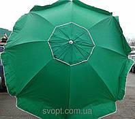 Зонт круглый (2,5м) с серебряным напылением и клапаном