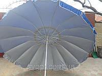 Зонт пляжный круглый (3м) с серебряным напылением и клапаном